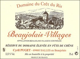 Beaujolais Villages élévé en barrique